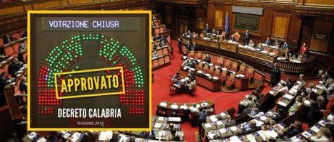 Il Decreto Calabria è ora legge