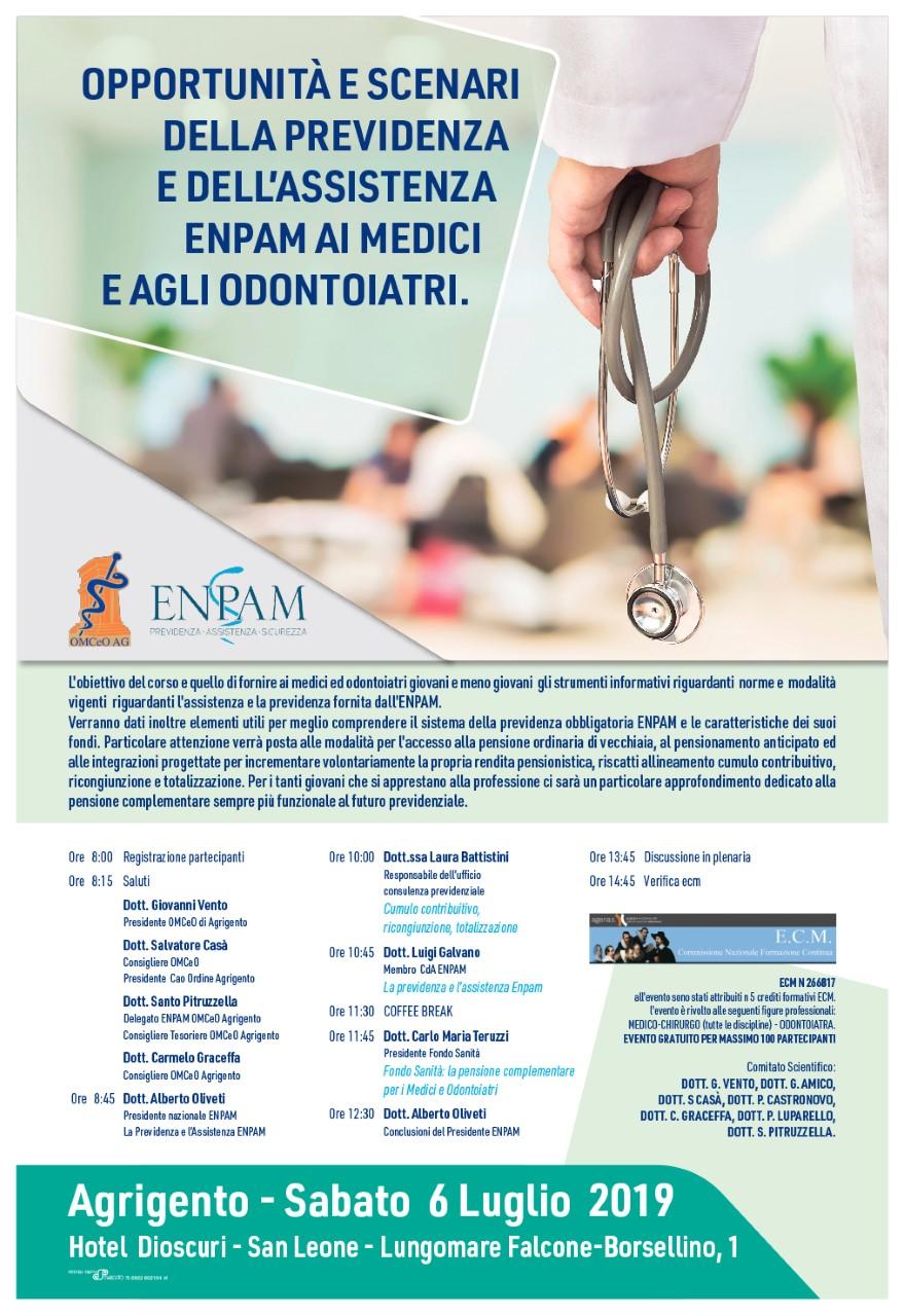 Convegno ENPAM il 6 Luglio all'Hotel Dioscuri di Agrigento