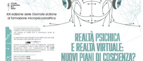 """""""Realtà psichica e realtà virtuale: nuovi piani di coscienza?"""" evento l'11 e il 12 ottobre a Capo d'Orlando"""