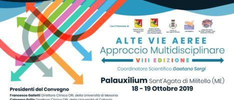 """VIII edizione di """"ALTE VIE AEREE – approccio multidisciplinare"""" il 18 e19 ottobre all'Istituto Zito di Sant'Agata Militello"""