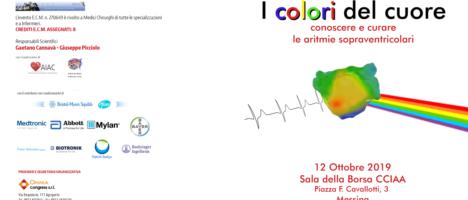 """Congresso """"I colori del cuore – conoscere e curare le aritmie sopraventricolari"""" a Messina il 12 Ottobre"""