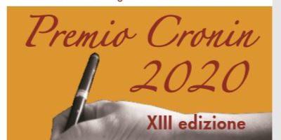 """XIII edizione del """"Premio Cronin 2020"""", il 24 ottobre 2020 al Teatro Don Bosco di Savona"""
