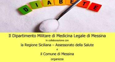 Prima giornata di screening per la prevenzione del diabete. Il 30 novembre al Dipartimento Militare di Medicina Legale di Messina