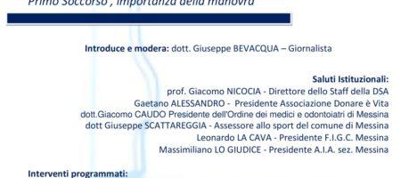 """""""Morte improvvisa. Primo soccorso, importanza della manovra"""" il 5 dicembre nella sala congressi """"G. Martino"""" del Policlinico di Messina"""