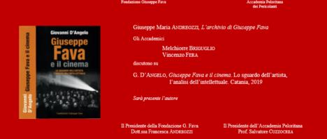 """Il 17 gennaio presentazione del libro """"Giuseppe Fava e il cinema"""" all'Accademia Peloritana dei Pericolanti"""