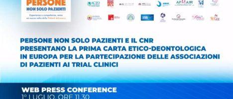 Sperimentazioni cliniche: nasce in Italia la prima Carta che promuove il diritto dei pazienti e delle Associazioni a far sentire la loro voce nello sviluppo dei farmaci