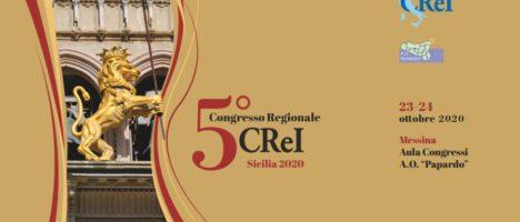 "Congresso ""CReI Sicilia 2020"" il 23 e 24 ottobre a Messina Aula Congressi A.O. ""Papardo"""