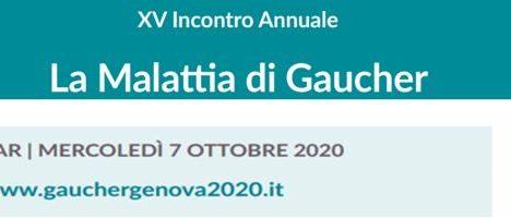 """Mercoledì 7 ottobre Webinar su """"Nuove terapie, diagnostica, ricerca, studi in divenire. La ricerca italiana sulla malattia di Gaucher non rinuncia al confronto nell'anno del Covid-19"""""""