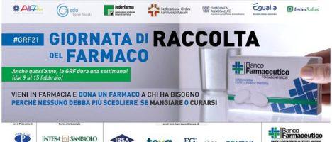 Dal 9 al 15 febbraio la Giornata di Raccolta del Farmaco promossa dalla Fondazione Banco Farmaceutico Onlus