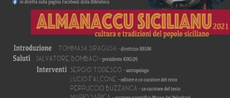 """Il 21 aprile in diretta live presentazione """"Almanaccu Sicilianu"""" alla Biblioteca Regionale di Messina"""