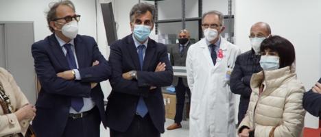 Inaugurato il nuovo Hub vaccinale al Policlinico, prevista la somministrazione di 500 vaccini al giorno