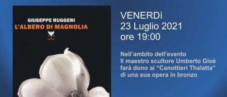 """Venerdì 23 la presentazione del libro di Giuseppe Ruggeri """"L'albero di Magnolia"""""""